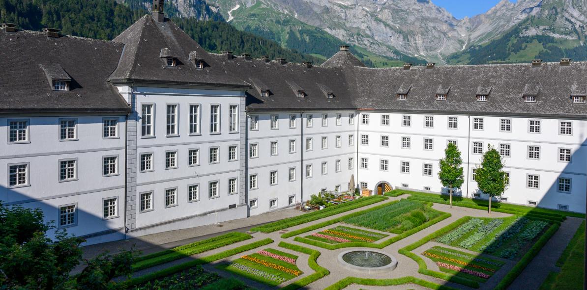 Gastabteilung im Kloster Engelberg.